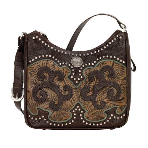 American West Annie S Secret Concealed Carry Shoulder Bag Chocolate Brown Las Western Handbags And Wallets