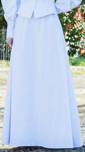 Frontier Classics Cotton Twill Walking Skirt White