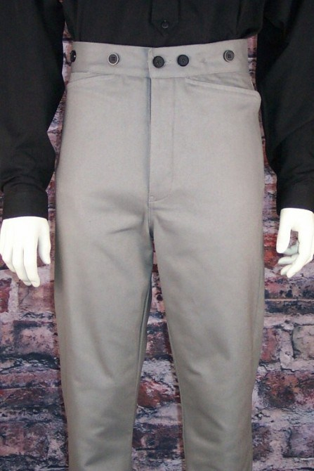 Frontier Classics Gunfighter Pant - Grey - Men's Old West Pants | Spur Western Wear