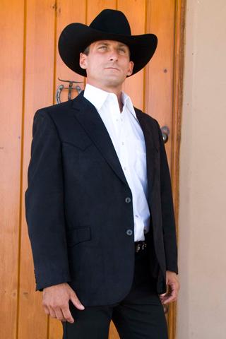 Circle S Houston Microsuede Western Sport Coat - Black - Big ...