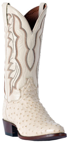 7634fe8985d Dan Post Pershing Full Quill Ostrich Western Boot - White - Men's ...