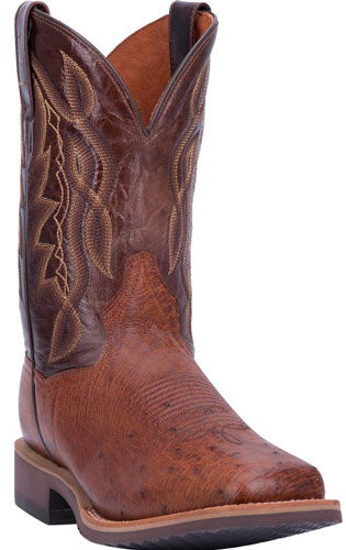 Dan Post Philsgood 2 Smooth Ostrich Western Boot - Cognac - Men's Western Boots | Spur Western Wear