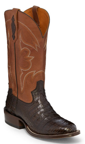 3c0702a2459 Tony Lama 1911 Zachary Caiman Western Boot - Brown