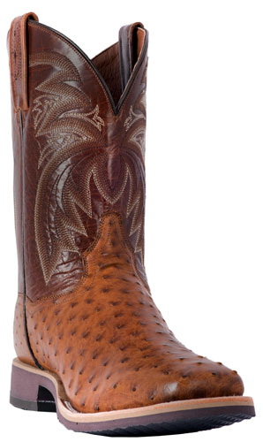 Dan Post Philsgood Full Quill Ostrich Western Boot - Bay Apache - Men's Western Boots | Spur Western Wear