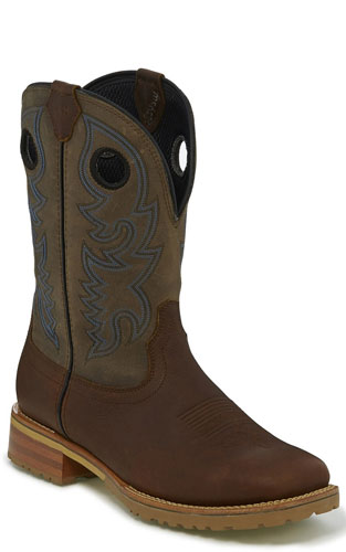 Justin Marshal Waterproof Soft Toe Work Boot - Gun Barrel Grey - Men's Western Boots | Spur Western Wear