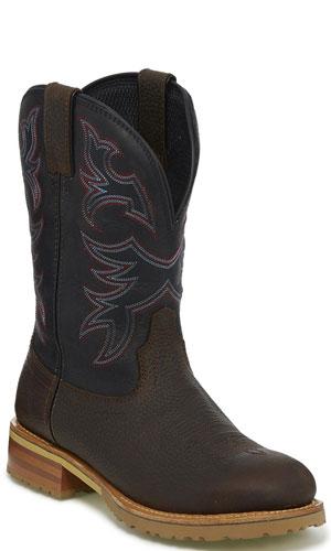 7033e528fd0 Justin Herdsman Waterproof Soft Toe Work Boot - Midnight Black
