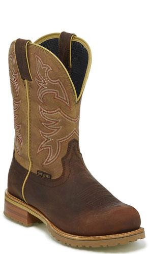 649eb441cd4 Justin Herdsman Waterproof Steel Toe Work Boot - Tumbleweed Tan