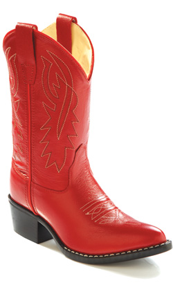 Jama Old West Cowgirl Boot Red Toddlers Kids