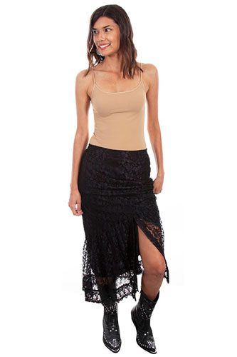 Scully Honey Creek Lace Maxi Skirt Black