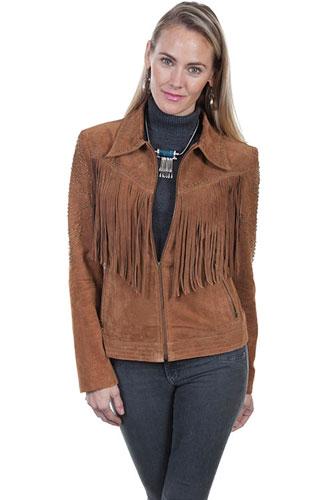e1865aaa Scully Studded Boar Suede Western Jacket - Cinnamon - Ladies Leather Jackets  | Spur Western Wear