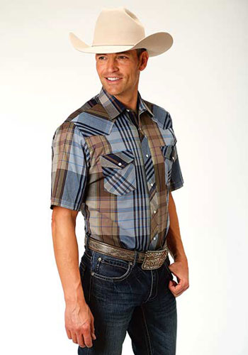 1cefa111 Roper Plaid Short Sleeve Western Shirt - Multicolored - Men's Western Shirts  | Spur Western Wear