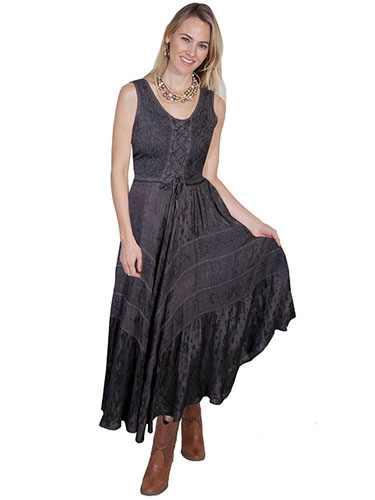 Scully Honey Creek Lace Front Dress Gun Metal