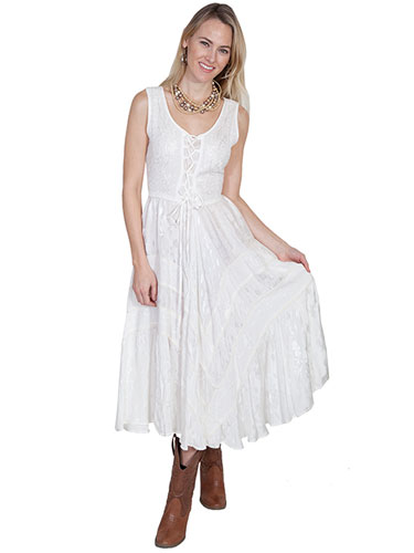 Scully Honey Creek Lace Front Dress Ivory