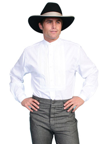 Scully Gambler Shirt - White - Men's Old West Shirts | Spur Western Wear