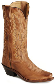 Jama Old West Western Boot - Tan - Ladies' Western Boots | Spur Western Wear