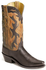 Jama Old West Western Boot - Black - Ladies' Western Boots | Spur Western Wear
