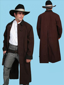Scully Canvas Duster - Walnut - Men's Frock Coats and Dusters | Spur Western Wear