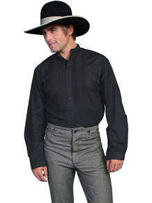 Scully Gambler Shirt - Black - Men's Old West Shirts | Spur Western Wear