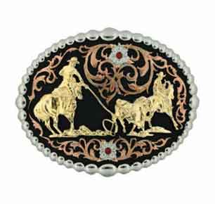 Montana Silversmiths® Tri Colored Team Roper Buckle