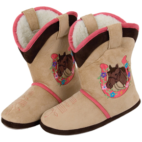 Ciccia Bella Youth Western Boot Slippers