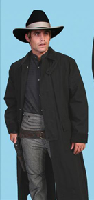 Scully Canvas Duster - Black - Men's Frock Coats and Dusters | Spur Western Wear