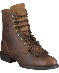 Ariat® Heritage Lacer II Western Boot - Distressed Brown - Ladies' Western Boots | Spur Western Wear
