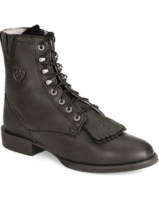 Ariat Heritage Deertan Lacer Boots - Black - Ladies