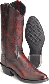Jama Old West Trucker's Western Boot - Black Cherry - Men's Western Boots | Spur Western Wear