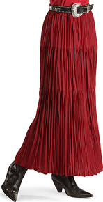 Cattlelac Broomstick Skirt - Red - Ladies' Western Skirts and Dresses | Spur Western Wear