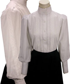 Frontier Classics Grace Blouse - White - Ladies' Old West Clothing | Spur Western Wear
