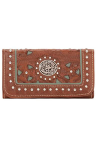 American West Lady Lace Tri-fold Wallet - Ladies' Western Handbags And Wallets | Spur Western Wear