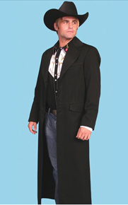 Wah Maker Highland Rifle Frock Coat - Black - Men's Old West Vests And Jackets | Spur Western Wear