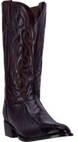 Dan Post Bellevue Ostrich Leg Western Boot - Black Cherry - Men's Western Boots | Spur Western Wear