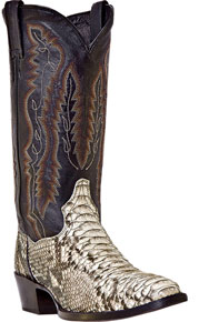 Dan Post Omaha Python Western Boot - Natural - Men's Western Boots | Spur Western Wear