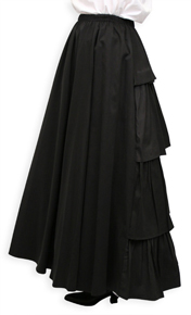 Frontier Classics Bustle Skirt - Black - Ladies' Old West Skirts and Dresses | Spur Western Wear
