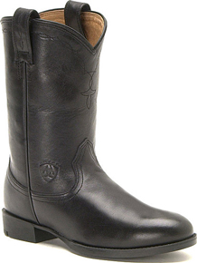 Ariat<sup>®</sup> Heritage Roper Western Boot - Black - Men's Western Boots | Spur Western Wear