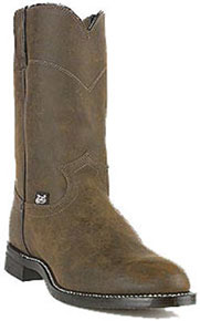 Justin Basics Temple Roper Boot - Brown - Men's Western Boots | Spur Western Wear