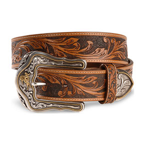Tony Lama Westerly Ride Leather Belt