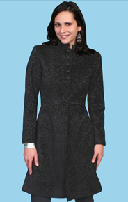 Wah Maker Black Velvet Ladies Frock