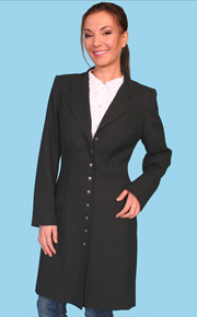 Wah Maker Black Wool Ladies Frock