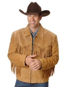 Scully Fringe Leather Coat - Bourbon - Men's Leather Western Vests and Jackets | Spur Western Wear