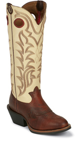 Tony Lama 3R Quanah Buckaroo Western Boots - Creme - Men's Western Boots | Spur Western Wear