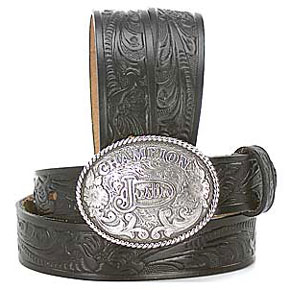 Justin Children's Black Western Belt