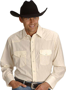 Wrangler Silver Edition Long Sleeve Western Shirt - Cream - Men's Western Shirts | Spur Western Wear