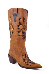 Roper Skull & Floral Embroidered Tall Cowgirl Boots