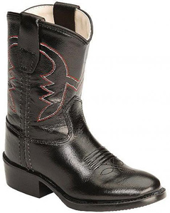Jama Old West Cowboy Boot - Black - Infants' - Kids' Western Boots | Spur Western Wear