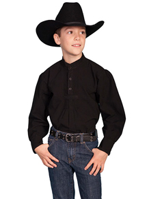 6d31d35dc Scully Pullover Gambler Shirt - Black - Boys' Old West Shirts | Spur Western  Wear