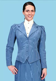 Wah Maker Moire Outing Jacket - Blue - Ladies' Old West Vests And Jackets | Spur Western Wear