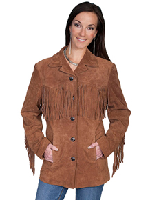 Scully Suede Fringe Leather Jacket - Cinnamon - Ladies Leather Jackets | Spur Western Wear