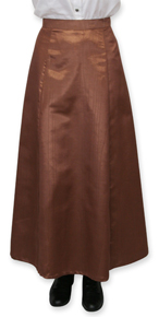 Wah Maker Moire Gibson Girl Skirt - Chocolate - Ladies' Old West Skirts | Spur Western Wear